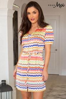 Pour Moi Red Margot Woven Satin Short Tea Dress