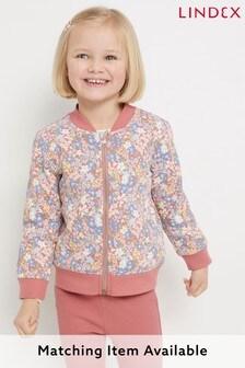 Lindex Pink Printed Bomber Jacket