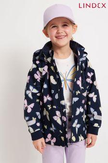 Lindex Navy Soft Shell Raincoat