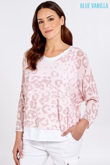 Blue Vanilla Pink 2In1 Animal Print Top