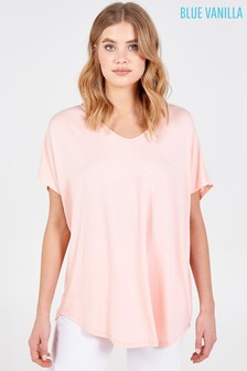 Blue Vanilla Pink Basic Oversized Tee Top
