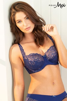 Pour Moi Blue Forever Fiore Full Cup Bra