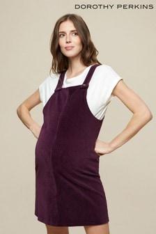 Dorothy Perkins Red Maternity Cord Pinafore Dress