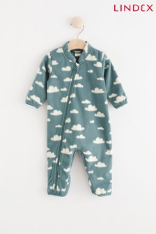 Lindex Blue Baby Fleece Lined Pramsuit