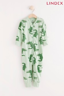 Lindex Green Crocodile Zip Sleepsuit (Baby)