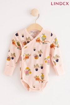 Lindex Pink Baby Wrap-Over Bodysuit