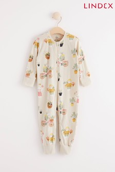 Lindex Cream Zip Sleepsuit (Baby)