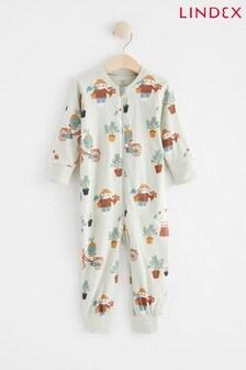 Lindex Blue Character Print Zip Sleepsuit (Baby)