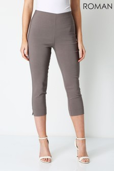 Roman Brown Cropped Stretch Trouser