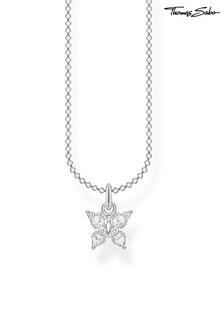 Thomas Sabo Silver Charming Collection Magic Garden Small Butterfly Pendant Necklace
