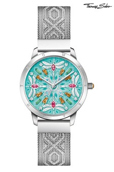 Thomas Sabo Silver Ladies Stainless Steel Magic Garden Watch with Turquoise & Coloured Stone