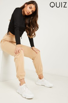 Quiz Brown High Waisted Joggers