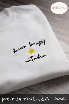 Personalised Shine Bright T-Shirt by Dollymix