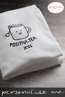 Personalised Positivi Tea T-Shirt by Dollymix