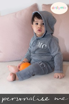 Personalised Striped Hooded Lounge Set by Dollymix