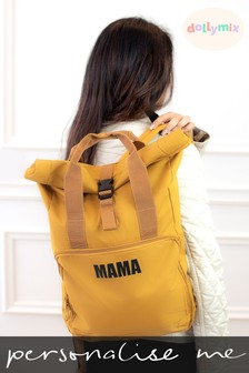 Personalised Roll Top Backpack by Dollymix