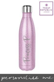 Personalised Jungley Glitter Water Bottle by Treat Republic
