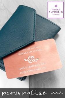 Personalised Mum Metal Wallet Keepsake by Treat Republic