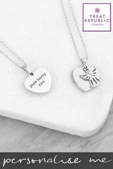 Personalised Angel Necklace by Treat Republic