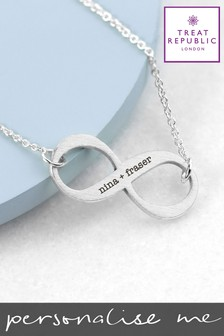 Personalised Infinity Necklace by Treat Republic
