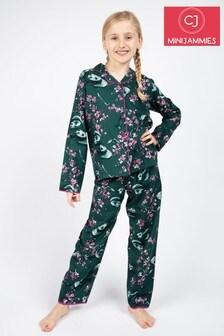 Cyberjammies Green Penny Panda Print PJ Set