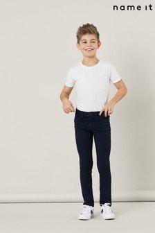 Name It Dark Sapphire Adjustable Waist Chino Trousers