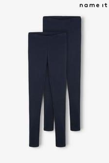 Name It Navy Blue 2 Pack Leggings