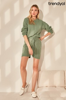Trendyol Mint Short Knit Co-ord
