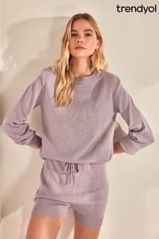 Trendyol Lilac Short Knit Co-ord