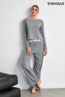 Trendyol Grey Dreams Pyjamas