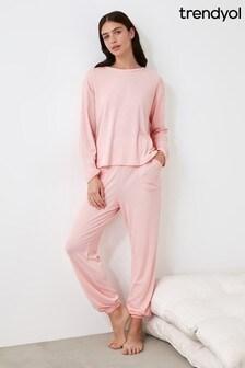 Trendyol Pink Powder  Pyjamas