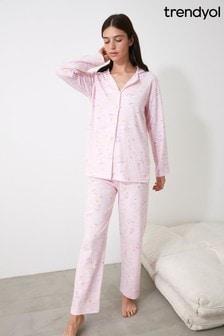 Trendyol Pink Rainbow Print  Pyjamas