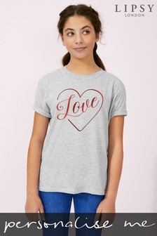 Personalised Lipsy Love in Your Heart Kid's T-Shirt by Instajunction