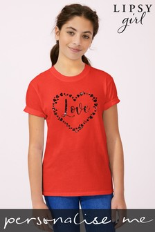 Personalised Lipsy Love Hearts All Around Kid's T-Shirt by Instajunction