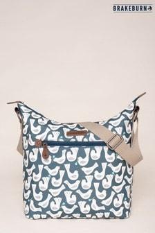 Brakeburn Blue Geo Birds Hobo Bag