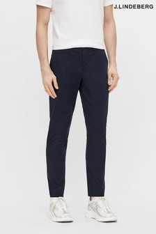 JLindeberg Navy Cotton Chino Golf Trousers