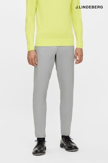 JLindeberg Grey Cotton Chino Golf Trousers