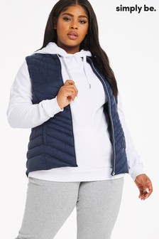 Simply Be Navy Lightweight Padded Gilet