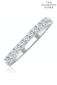 The Diamond Store Half Eternity Ring 0.30CT Lab Diamond 9K White Gold
