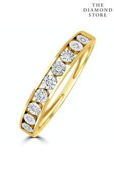 The Diamond Store Channel Set Lab Diamond Eternity Ring 0.05ct in 9K Gold