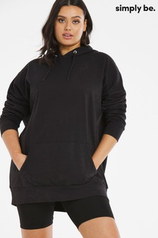 Simply Be Black Oversized Hoodie
