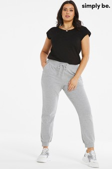 Simply Be Grey Oversized Jogger