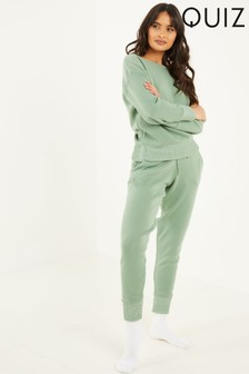 Quiz Green Knitted Loungewear Set