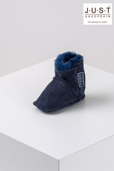 Just Sheepskin Navy/Blue Adelphi Bootie