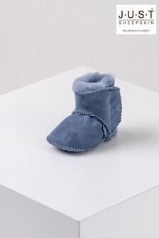 Just Sheepskin Blue Adelphi Bootie