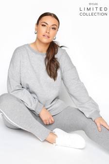 Yours Limited Grey Cotton Jersey Sweatshirt