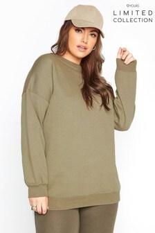 Yours Limited Khaki Cotton Jersey Sweatshirt