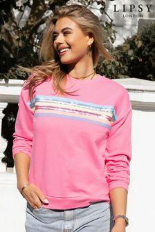 Lipsy Pink Rainbow Lightweight Sweatshirt