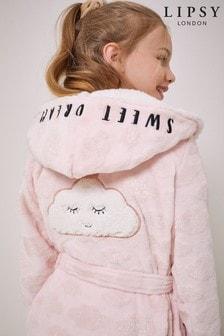 Lipsy Pink Cloud Borg Lined Fleece Robe