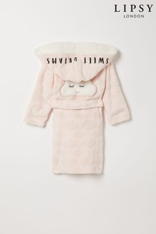 Lipsy Pink Cloud Mini Borg Lined Robe